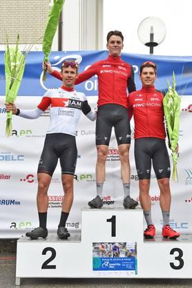 Das Podest (von links): Fabian Lienhard, Mauro Schmid, Alex Vogel.