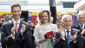Das Prinzenpaar mit Bundespräsident Ueli Maurer.