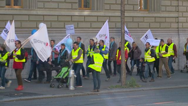 Protest gegen Sparmassnahme des Bundes