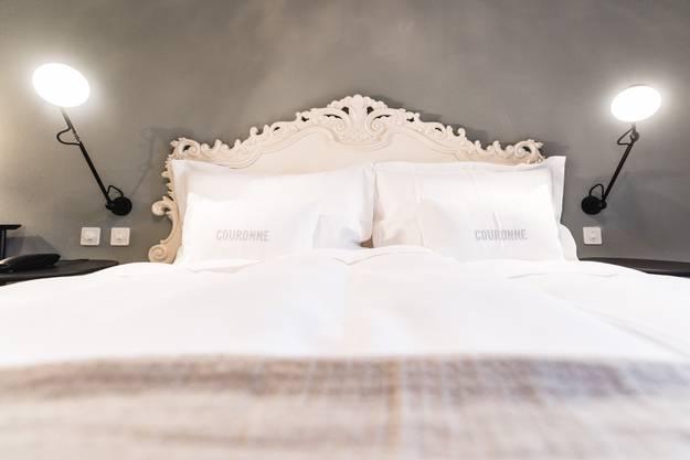 Die Betten sind die gleichen wie im Haupthaus
