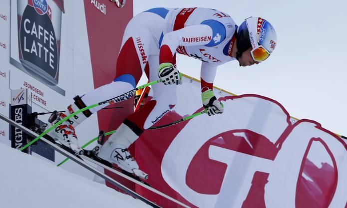 «Iceman» Carlo Janka gewinnt den Super-G in Südkorea überlegen.