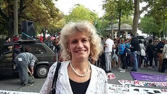 Protestaktion vor Kantonsrat gegen Schliessung Lehrwerkstätten