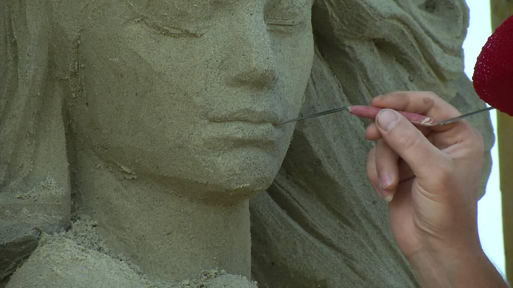 Knappheit: Toggenburger Sand rettet Sandskulpturen Festival