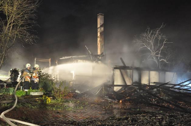 Die Feuerwehr hatte keine Chance mehr, das Bauernhaus zu retten