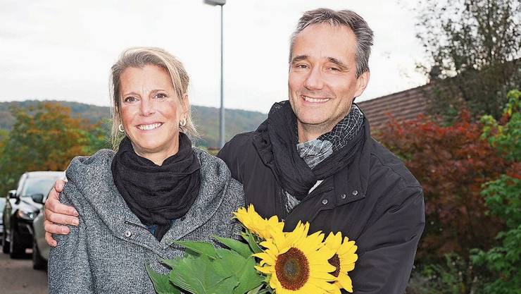 Carole Binder ist neu im Grossen Rat, das freut auch Ehemann Ralph.
