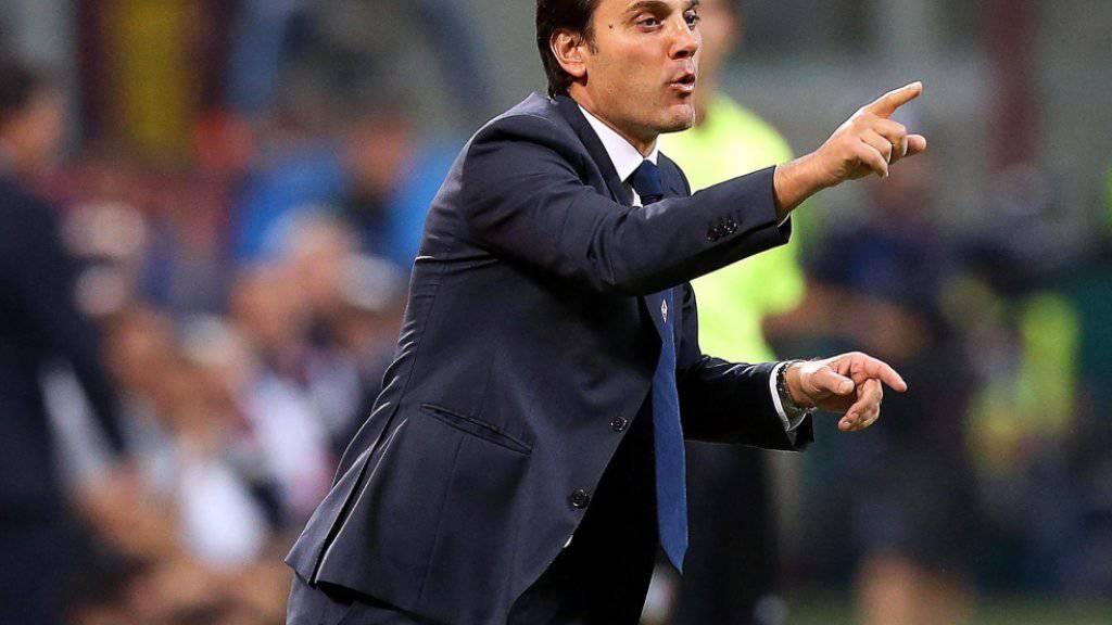 Der ehemalige italienische Internationale Vincenzo Montella (42) wird fortan bei der AC Milan an der Seitenlinie stehen