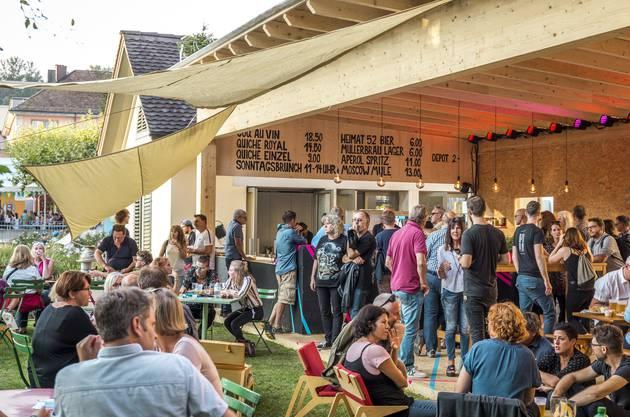 Impressionen der verschiedenen Beizen am Stadtfest Brugg 2019: «Utopia»