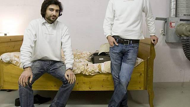 Die Künstler Frank und Patrik Riklin (Archiv)