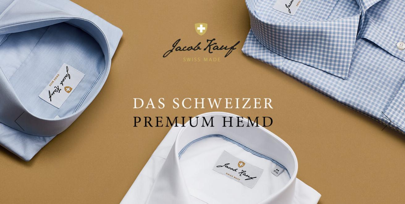 So wirbt die Firma Kauf auf ihrer Homepage für das Edel-Hemd. Bild: Screenshot