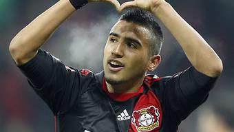 Leverkusens Arturo Vidal erzielte gegen Hannover das 1:0