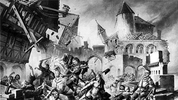 Der Basler Historienmaler Karl Jauslin hat das apokalyptische Beben vom 18. Oktober 1356 künstlerisch festgehalten.