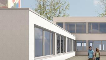 Das Oberstufenzentrum wird künftig rund 24 Klassen der Bezirks-,Sekundar- und Realschule führen. Dafür sind vier zusätzliche Klassenzimmer nötig, die in einem Anbau untergebracht werden.