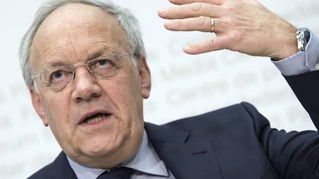 Bundesrat Schneider-Ammann am Mittwoch vor den Medien in Bern