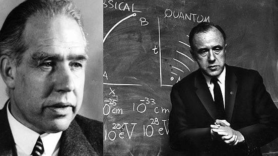 Niels Bohr und John Archibald Wheller.