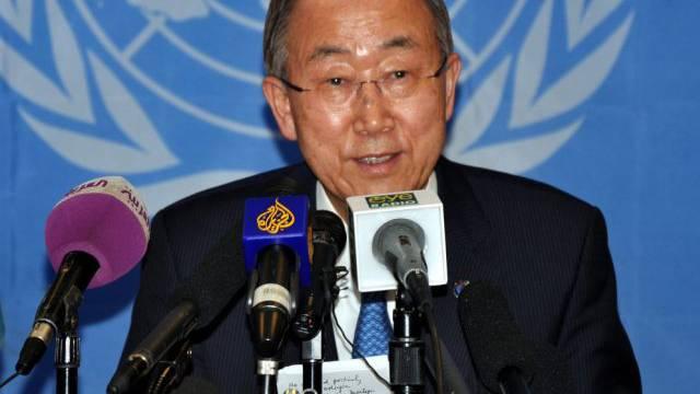 UNO-Generalsekretär Ban Ki Moon spricht zu den Medien (Archiv)