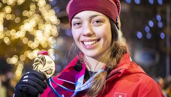 Und schon wieder kann Amelie Klopfenstein mit einer Goldmedaille posieren