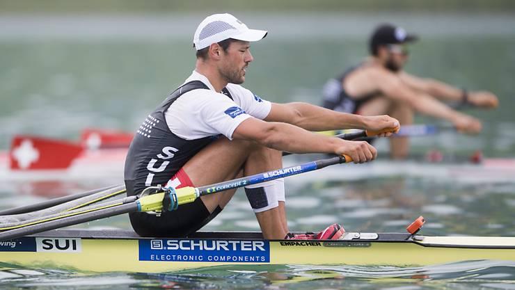 Der Schweizer Ruderer Nico Stahlberg startet auf dem Rotsee als Weltcup-Führender