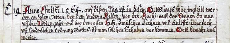 Der Auszug aus dem Jahrzeitbuch.