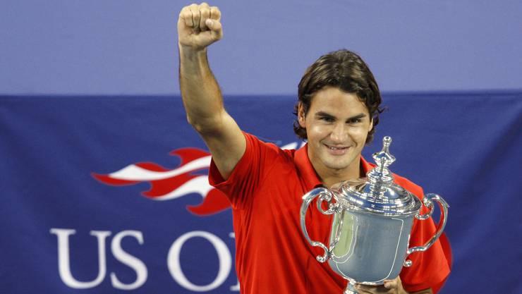 Unverheiratet, kinderlos, jungenhaft: Roger Federer 2008 bei seinem letzten US-Open-Sieg.