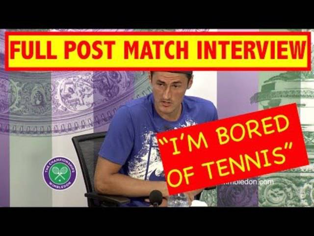 "FULL SHOCKING Bernard Tomic Press conference | ""im bored of tennis"" 
