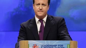 Der britische Premier Cameron in Manchester