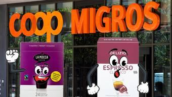 Coop hat für die Kaffeekapseln bei Migros kopiert.