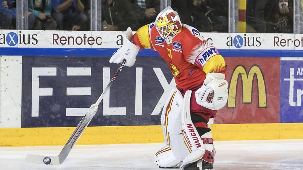 Trotz fünf Gegentoren als Sieger vom Eis: Sierre-Goalie Remo Giovannini