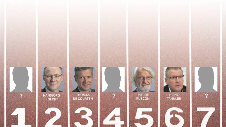 Mögliche Bundesratskandidaten der SVP.