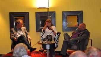 Harte Diskussion: Judith Wernli leitet das Gespräch zwischen Geri Müller (links) und Sidney Weill.