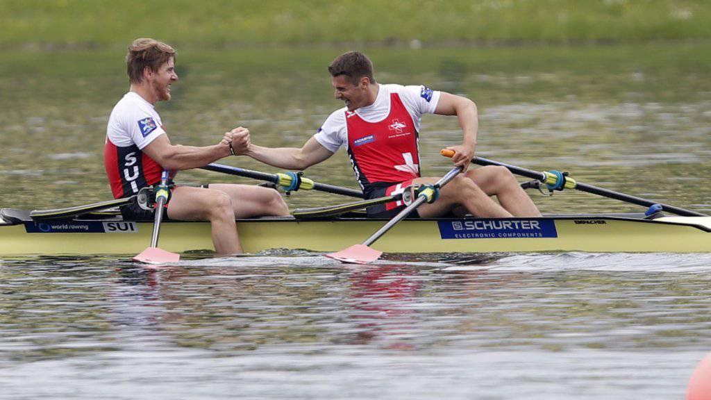Im EM-Final: Roman Röösli and Barnabé Delarze