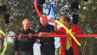 OK-Präsident Rolf Wild und Stadtpräsident Toni Brühlmann-Jecklin eröffnen mit Clown Mugg das Fest!.jpg