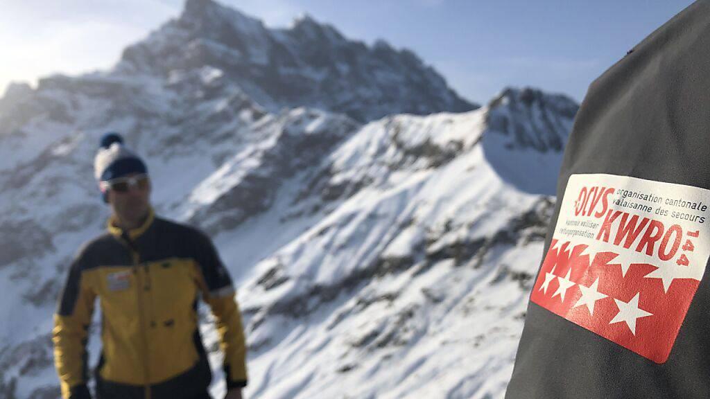 Im Einsatz für die Suche nach zwei verirrten Wanderinnen stand auch die kantonale Walliser Rettungsorganisation.