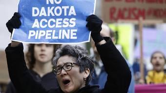 Erfolg für tausende Demonstranten: Ölpipeline in North Dakota wird vorerst nicht weitergebaut. (Archivbild)