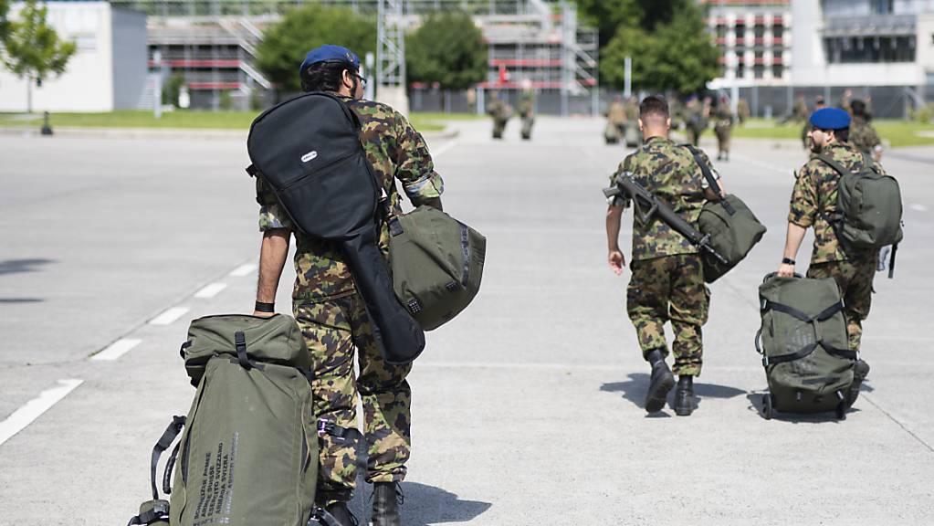 Das Spitalbataillon 75 der Schweizer Armee wurde Ende Mai in Frauenfeld unter Bereitschaftsauflagen aus dem Dienst entlassen. Am 19. Juni beendet der Bund und der Kanton Thurgau die ausserordentliche Lage. (Archivbild)