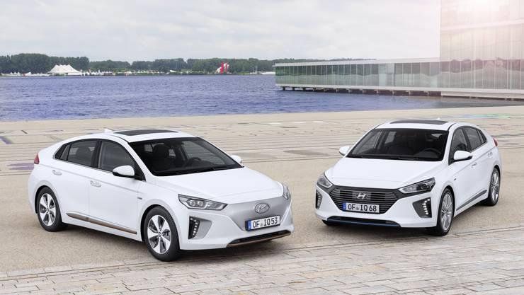 Hyundai Ioniq Electric und Hybrid.