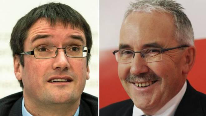 SP-Präsident Christian Levrat (l.) und BDP-Nationalrat Hans Grunder. Foto: Key