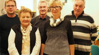 Der letzte Vorstand der Gemeinnützigen Gesellschaft des Bezirks Laufenburg: Marcel Rohrer (v.l.), Erika Rüede, Gerry Thönen, Ursula Jutzi und Werner Fasel.