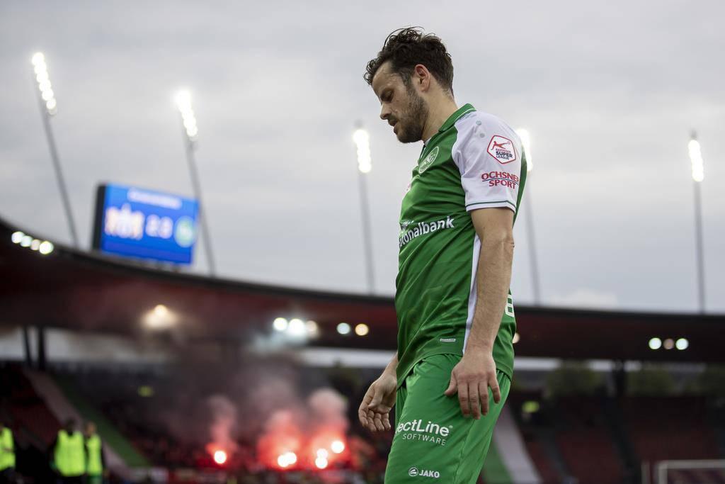 Barnetta ist enttäuscht darüber, seinem Verein nicht den dritten Platz und damit die direkte Europa-League-Qualifikation ermöglicht zu haben. (© Keystone)