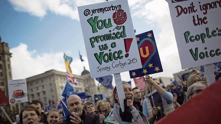 Jeremy Corbyn, Chef der linken Labour-Partei, ist selbst unter Labour-Anhängern zusehends verhasst. Der 70-Jährige dürfte die Wahlen verlieren.