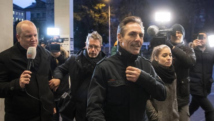 Freddy Nock vor dem Prozess Anfang Dezember 2019 vor dem Bezirksgericht Zofingen.
