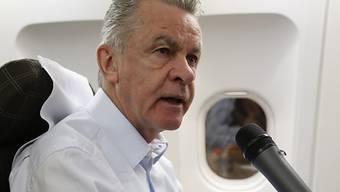 Relaxt und optimistisch: Ottmar Hitzfeld vor der Auslosung
