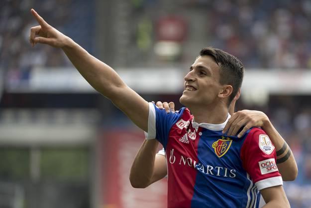 Mohamed Elyounoussi schoss das erste Tor für den FCB.