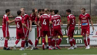 Der FC Baden klettert dank dem Sieg gegen Zug zwischenzeitlich auf Platz 2.