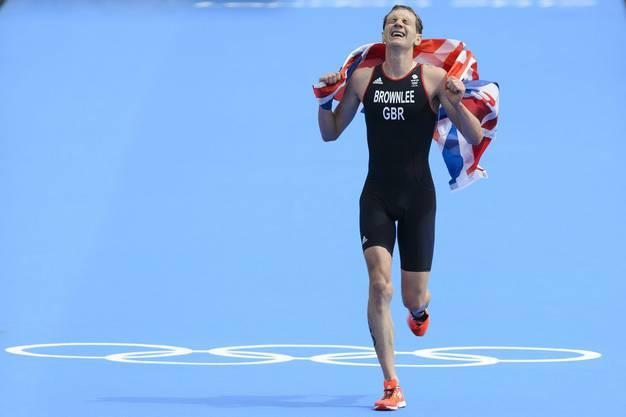Der Triumph-Lauf des Briten Alistair Brownlee, der sich Gold sichert