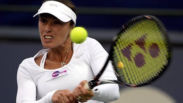 Für Martina Hingis ist das Doppel-Turnier in Carlsbad zu Ende