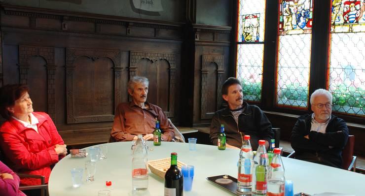 Eine interessierte, kritische Runde aus den Grünen Liestal.