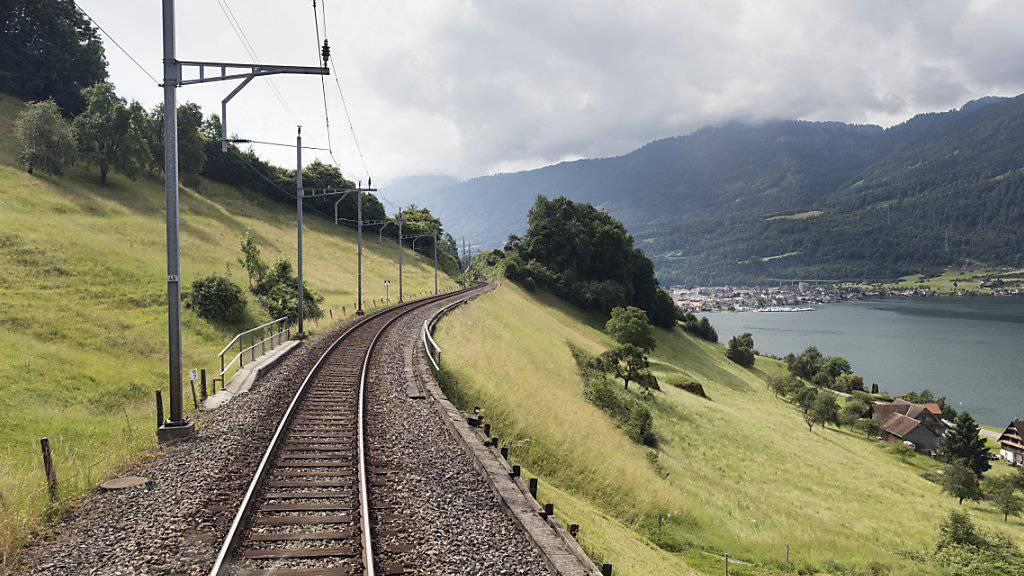 Der Gotthardzubringer führt zwischen Zug und Arth-Goldau durch ein topografisch anspruchsvolles Gebiet. Während der Streckensperrung werden auch Massnahmen gegen Naturgefahren realisiert. (Archivbild)