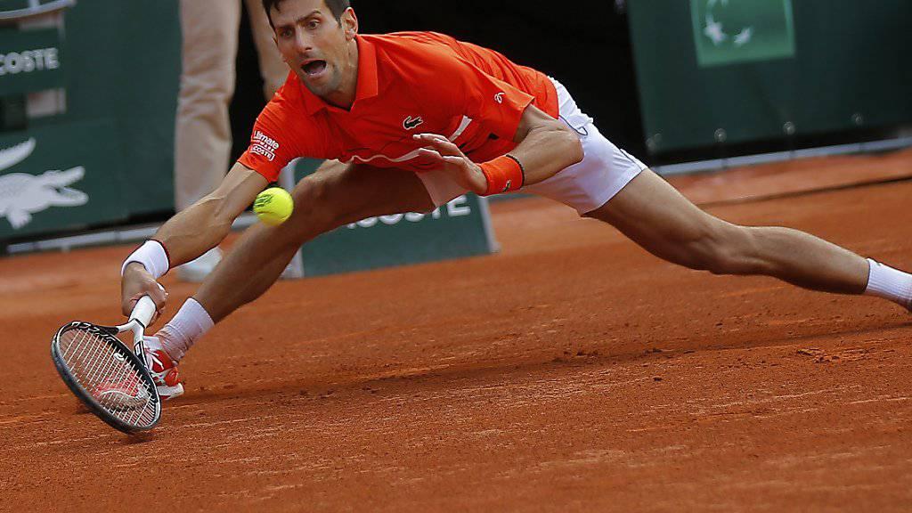 Novak Djokovic bekundete nur im ersten Satz etwas Mühe gegen Zverev