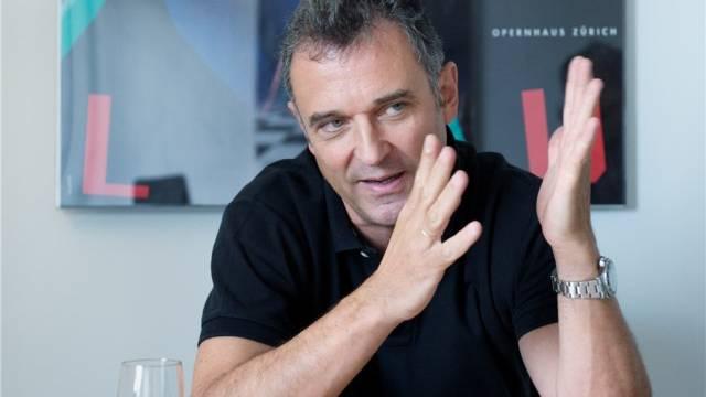 Andreas Homoki, Intendant des Opernhaus Zürich, im Rahmen eines Interviews in Zürich. Foto: Markus Forte
