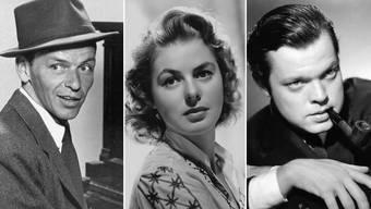 Jahrgang 1915: Frank Sinatra, Ingrid Bergmann und Orson Welles (v.l.)
